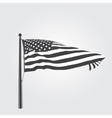 Developing the wind patriotic American flag vector image