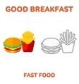 breakfast 1205 elements 09 vector image