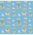 cartoon cat seamless pattern vector image