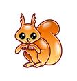 Cute cartoon squirrel isolated vector image