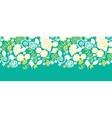 Emerald flowerals horizontal seamless pattern vector image