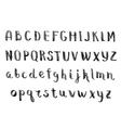 Handmade ink alphabet vector image
