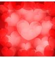 valentines red hearts background vector image