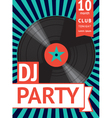 vintage party poster vector image