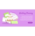 Wedding Planning Web Banner Preparations vector image