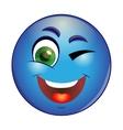 Winking emoticon vector image
