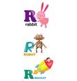alphabet letter - R vector image