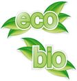 Eco and bio vector image vector image