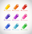 Collection of crayons with color traces vector image vector image