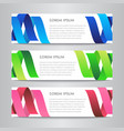 set of design ribbon banner template vector image vector image
