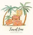hand drawn holiday travel card vector image