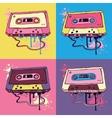Retro Audio cassette tape vector image vector image