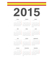 Spanish 2015 year calendar vector image