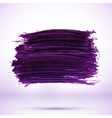 Purple paint texture stain with shadow vector image vector image