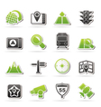 navigation and Location Icons vector image