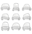 cartoon set cars contours vector image vector image
