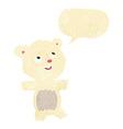 cartoon polar bear with speech bubble vector image