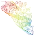 Colorful grunge background with butterfly vector image vector image