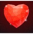 Big Red Shiny Diamond Heart vector image