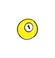 billiard ball sketch grungy doodle vector image