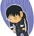 Cartoon of Sad Boy vector image