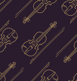 classical music instruments seamless pattern vector image