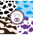 Cow theme seamless vector image