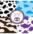 Cow theme seamless vector image