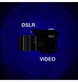 DSLR Video Camera vector image