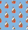 gingerbread house pattern vector image