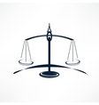scales of Justice vector image