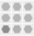 Set of halftone abstract forms vector image