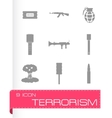 terrorism icons set vector image