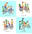 Summer Sport Concepts in Flat Design vector image