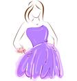 girl in purple prom dress vector image