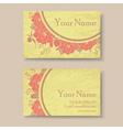 vintage floral business card vector image