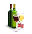 Red And White Wines vector image