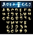 Scroll Brush Alphabet vector image
