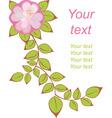 vector flower postcard vector image