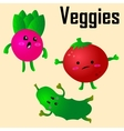 Cartoon of Funny Vegetables vector image