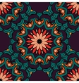 Festive geometric floral seamless pattern vector image