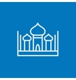 Mosque line icon vector image vector image