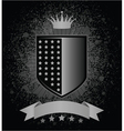 shield with grunge vector image vector image