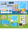 Nursery Room Cartoon Horizontal Banners vector image