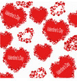 a pattern from the heart with the inscription vector image