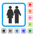 adult pair framed icon vector image
