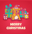 Christmas dog vector image
