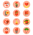 Modern Flat Love Symbols vector image