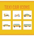 Set of taxi icons for web sites presentations vector image