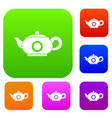 teapot set collection vector image